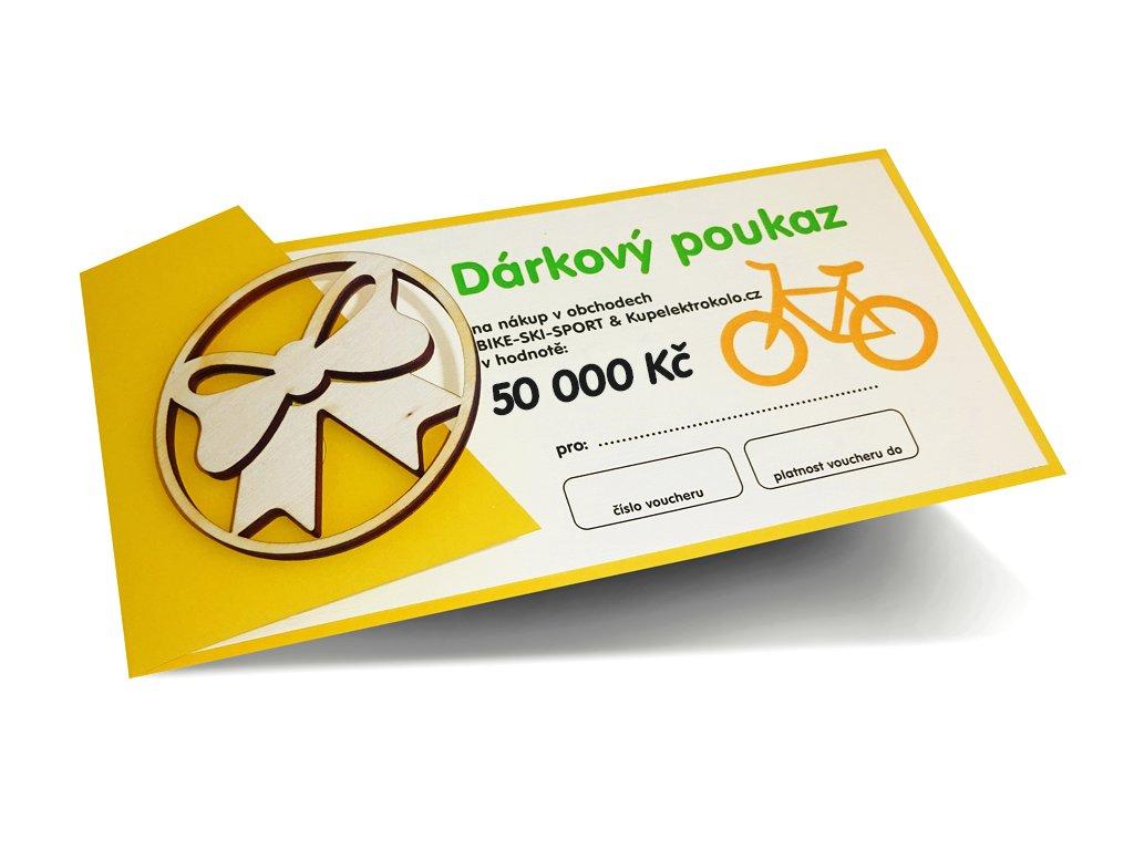 Dárkový poukaz v hodnotě 50 000 Kč